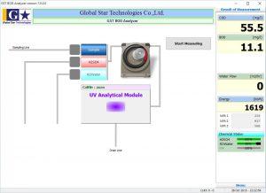 BOD/COD UV Online Analyzer Software UI